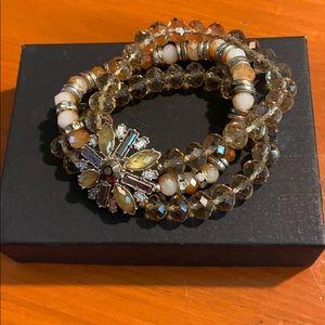 Stone and Jewels cuff bracelet